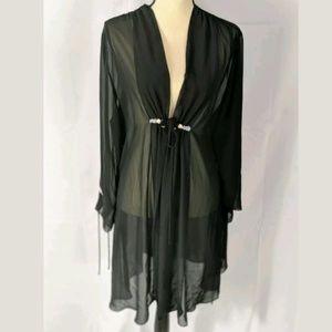 Valerie Stevens sheer black robe, medium